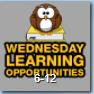 Wednesday Learning Opportunities